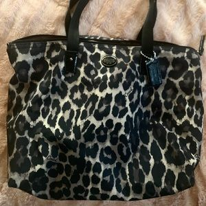 Coach Animal Print Tote Bag